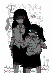 Monochrome Sisters by Mebuu
