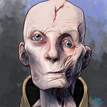 Daily Sketches Supreme Leader Snoke by fedde