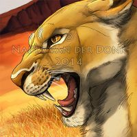 Lioness Icon by NadiavanderDonk
