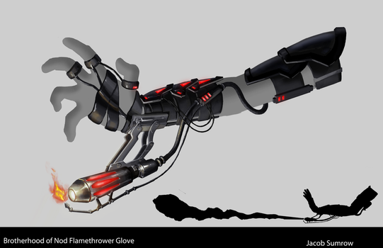 Brotherhood of Nod Inspired Flamethrower Glove 2 by Scorpiu5