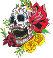 Day of the dead skull by Paigan-Lightblade