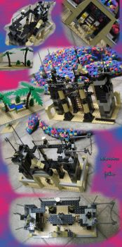 LEGO fortress by tirsden