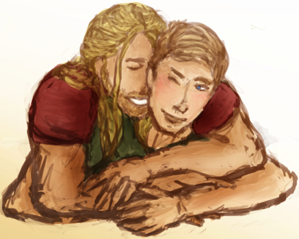 Thor/Steve | Wrapped by Abbysaurus