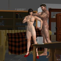 Chris and Anna playing time 1 by Se7enPr3dator