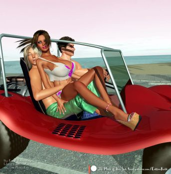 Una Gets A Dune Buggy Ride On The Seaway by cottonkidd