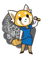 Retsuko is an aggressive worker lady by Cookie-and-her-foxes