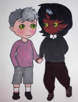 30 characters challenge : #16 and #17 by Kitten-Draws