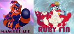 Some Badges by RubyRedOrca