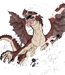dragon igneel and natsu by c-dream
