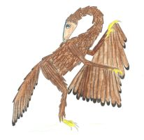 Archaeopteryx lithographica by saramarconato