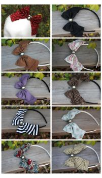 More Pearl Bow Headbands by ImperialFiddlesticks