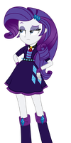 Rarity as Dazzlings by MixiePie