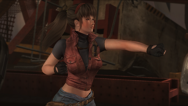 Hitomi as Claire Redfield Dead or Alive 5216 by WujekFu