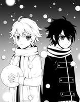 Little Mika and Yuu-chan by yaKetchup