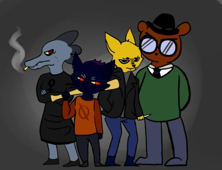A night in the woods by Angelriderpop