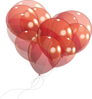 Heart Balloons PNG STOCK by KarahRobinson-Art