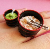 Wasabi and Ginger Ring Combo by AsianBunni