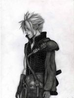 cloud strife by diabeticartist