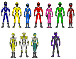 Comission - Power Rangers Planet Enforcers by Kaiserf11