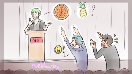 Jacksepticeye Q and A Pineapple and Pizza by ruebharb