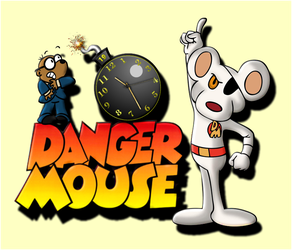 Danger Mouse Clock (animated) For Xwidget by DaveBreck