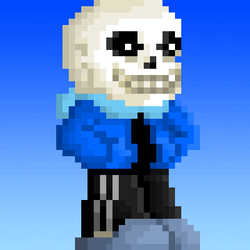 My first Sans pixel art by Soltakama