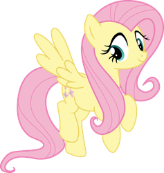 Fluttershy Flying by LaczkoUr