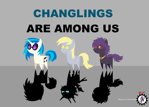 Changelings are among us! by Steampunk-Brony