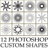 Abstract dots custom shapes for Photoshop by Brushportal