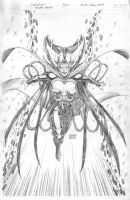 Deathbird - Pencil by edtadeo