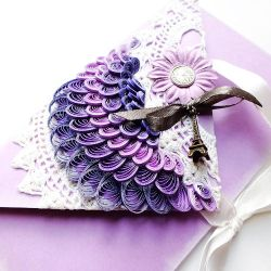 quilling envelope Paris by othewhitewizard