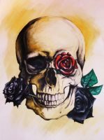 Skull and Roses by NatalieBorg