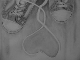 In love ( Pencil on paper) by ShinzaK