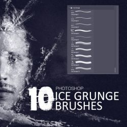 Ice Grunge photoshop brushes by Cosmas