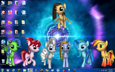 New Desktop Background- Mane 6 Vortex by Dead-Dawgz