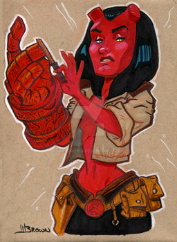 Hellgirl by WarBrown