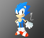 My try at Toei Sonic (Not my perfered Sonic Style) by Darkspike75