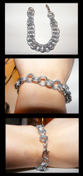 Chainmail Galvanized Steel bracelet by Leadmare