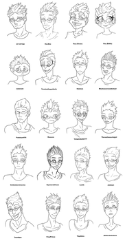 20 Art Style Challenge (Lineart) by Sil3ntRain