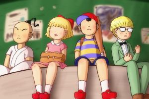 4 Heroes (EarthBound) by Beary-Boo