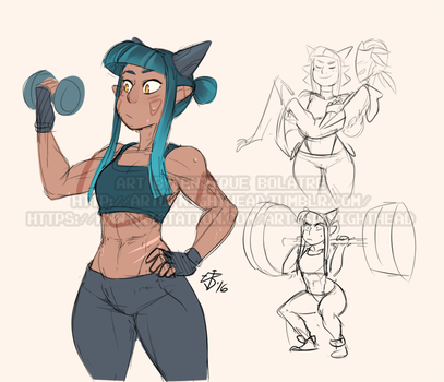 04-02-2016 - Mika Workouts by NightHead