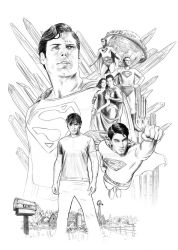 Supermen under drawing by jasonpal