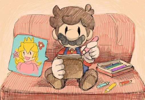 Mario loves Princess Peach. by Uroad7 by Uroad7