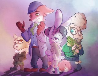 Zootopia!  Cold clothing edition. by 8-bitpunch