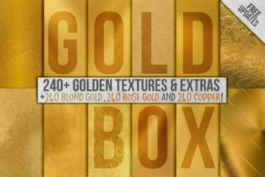 240+ Gold Foil Backgrounds + Extras by GraphicAssets