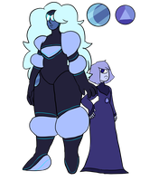 Moonstone and Sapphire by p0ssum-boy
