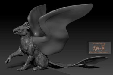 ZBrush - Gryphon WIP - 02 by Dreamspirit