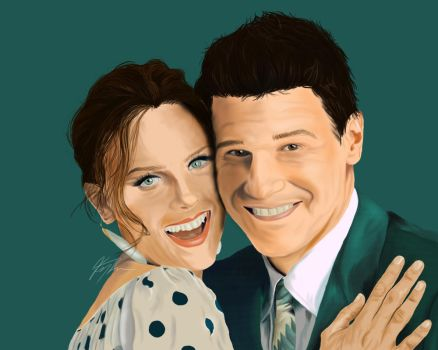 Booth And Brennan Digital Drawing by kgt-studios