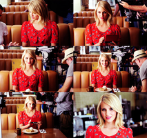 Red Dianna Agron by Before-I-Sleep