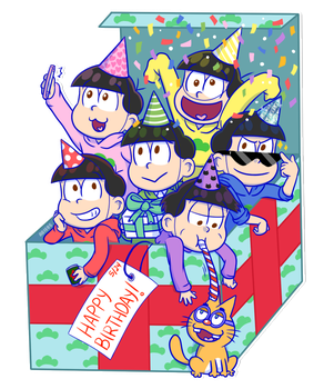 Osomatsu-san: Birthday NEETs by Abie05
